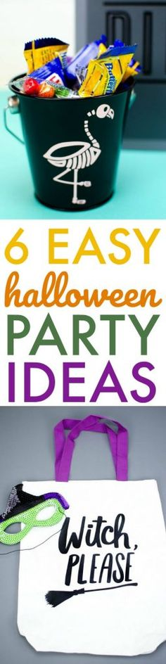 Today I want to show you 6 Easy DIY Halloween Party Ideas.They all turned out adorable and they were all so easy to make with my Cricut. Halloween Party Treats, Easy Halloween, Halloween Crafts, Hallows Eve, Trick Or Treat, Easy Diy, Cricut, Party Ideas, Day