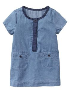 Chambray henley dress Product Image