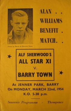 Alan Williams Benefit Match, 1954.