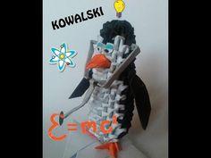 3D ORIGAMI KOWALSKI TUTORIAL PENGUINS OF MADAGASCAR COLLECTION - YouTube
