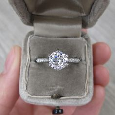 Forever One Colorless Moissanite & Diamond Engagement Ring   Kristin Coffin Jewelry