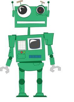 Robot in vector