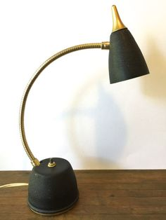 Mid Century Compact Task Lamp with Adjustable by VintageParamour