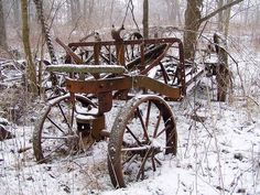 Old farm equipment found in Caley Reservation