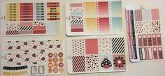 Lady Bug Wishes Full Weekly Set For Erin Condren Vertical by TasseledPlanner on…