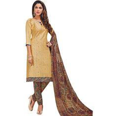 Ready to wear Cotton Embroidered Salwar Kameez Kantha work with Kalamkari Printed Salwar Dupatta Indian Dress  #Designer #FreeShipping #NewStuff #SalwarKameez #ShopNow #LowestPrice #SalwarSuit #DressMaterial