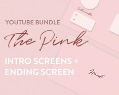 Youtube Intro End screens in Pink / The Pink | Etsy Intro Youtube, You Youtube, Whats On My Iphone, Clothing Haul, Channel Art, Night Routine, Blog Sites, Follow Me On Instagram, Cute Pink