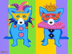 'Mardi Gras 2014' painting by George Rodrigue (via Musings of an Artist's Wife)
