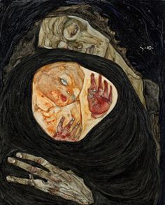 Dead Mother I (1910) by Egon Schiele