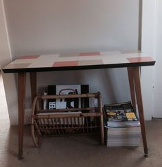 Gorgeous Mid Century Danish Eames Retro Tile Top Side Table Or Tv Table