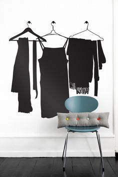 Something to liven up a room: wardrobe wall sticker (Ferm Living)