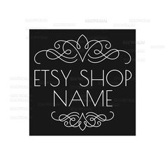 Shop Logo - Etsy Branding - Etsy Store Branding - Shop Icon - Etsy Shop Icon - Calligrapy Logo Style 1 by RhondaJai on Etsy