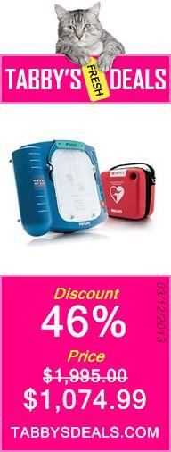 Philips HeartStart Home Defibrillator (AED) $1,074.99