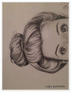 portrait REGARD au crayon graphite gras : Dessins par aurelie-ledoux: