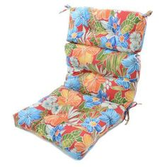 44x22 Inch 3 Section Outdoor Marine Blue High Back Chair Cushion (As Is  Item)   Blue, Products And Chair Cushions