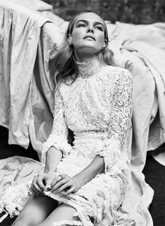Kate Bosworth - The EDIT, March 5th 2015.. Alessandra Rich dress, Scosha earrings, and Olivia Collings ring..