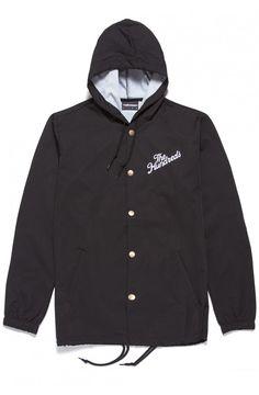 SHOP THE HUNDREDS   The Hundreds Slant logo hooded coaches jacket