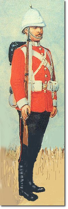 South Wales Borderers, Marching Kit, 1897