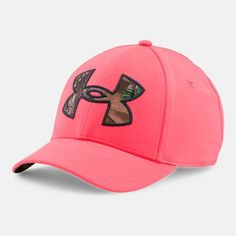 black and pink under armour hat