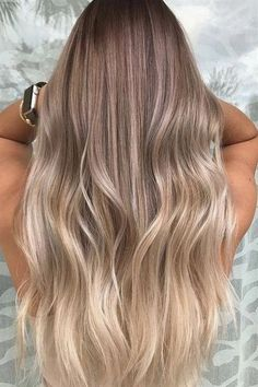 Here's Every Last Bit of Balayage Blonde Hair Color Inspiration You Need. balayage is a fr. Brown Ombre Hair, Brown Blonde Hair, Ombre Hair Color, Cool Hair Color, Medium Blonde, Blonde Color, Dye Hair Blonde, Hair Colour Ideas, Hair Colours