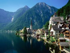 Halstatt, Austria. I've been to a town in Austria like this, it was amazing