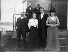 Group portrait outside a lighthouse? Unidentified location | Flickr - Photo Sharing!