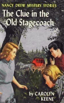 While vacationing at Camp Merriweather near Francisville, Mrs. Strook, an elderly citizen, asks Nancy to find an old stagecoach her great-uncle had hidden. This stagecoach may contain a valuable treasure that would benefit the town that needs funding to build a new school. This book is the original text. A revised text does not exist. Nancy Drew Mystery Stories, Nancy Drew Mysteries, Cozy Mysteries, Nancy Drew Books, Author Studies, Got Books, Classic Books, Book Characters, Book Collection