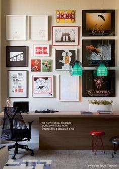 home office frame wall #decor #framewall