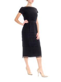 b7c75cd4921112 Alberta Ferretti Fully Beaded Modernist Dress Size  L