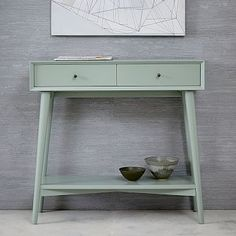 "West Elm // Mid-Century Mini Console // Oregano // $349 // 34""w x 12""d x 32""h // receive in 5-7 business days"