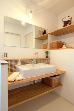 15 Cool Bathroom Backsplashes To Go For - Shelterness Decoration Inspiration, Bathroom Inspiration, Interior Design Inspiration, Home Room Design, Bathroom Interior Design, House Design, Muji Haus, Cosy Bathroom, Muji Style