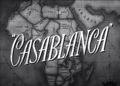 Movie title screen for the 1942 classic Casablanca which starred Humphrey Bogart and Ingrid Bergman. Humphrey Bogart, Bogart And Bacall, Film Casablanca, Casablanca Quotes, Movie Titles, Movie Quotes, Movie Tv, Movie Posters, Movie List