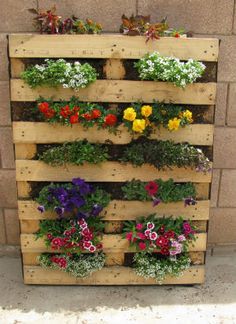 Pallet Garden - plant tall instead of wide! Ideal for my little yard :)