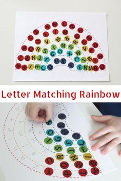 Alphabet Letter Matching Rainbow