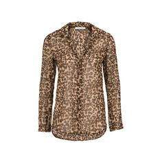Sheer Leopard Print Blouse (390 EGP) ❤ liked on Polyvore featuring tops, blouses, see through blouse, sheer top, sheer leopard blouse, see through tops and sheer leopard print blouse