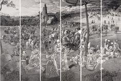 2008 CARRYING THE CROSS (set of 18), by Miao Xiaochun (Chinese, b1964)