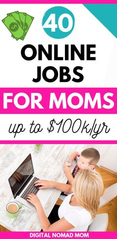 40 online jobs for moms paying up to year i think you may like what do you think? Online Jobs For Moms, Best Online Jobs, Legitimate Online Jobs, Online Careers, Best Careers For Moms, Work From Home Moms, Make Money From Home, Way To Make Money, Quick Money