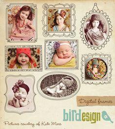 PSD digital frames for photographers