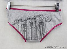 Small  Trees  Low Rise Panties Knickers Briefs by xannabotx, $12.00