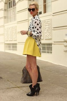 294047002 Chic Ways to Style Your Draped Tops Petit Poá, Amarelo, Inspiração Vintage,  Saias