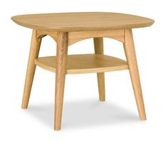 Buy Bentley Designs Oslo Oak Lamp Table with Shelf from - the UK's leading online furniture and bed store