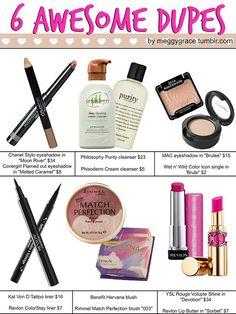 Splurge vs. Steal: 20 Amazing Drugstore Beauty Dupes | Gurl.com #beauty #bbloggers