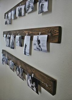 Make your own photo wall: ideas for a creative wall design .- Fotowand selber machen: Ideen für eine kreative Wandgestaltung Make your own photo wall: ideas for a creative wall design - Diy Wall Decor, Decor Room, Bedroom Decor, Bedroom Ideas, Art Decor, Wall Decorations, Bedroom Wall, Wooden Wall Decor, Photo Decoration On Wall