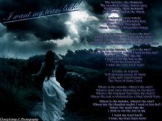 I Want My Tears Back -- Nightwish lyrics. this song. from album, Imaginaerum. Back Wallpaper, Love Moon, Best Song Lyrics, Night Wishes, All About Music, Writing Poetry, Music Therapy, Types Of Music, Dark Fantasy