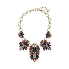 Fair Isle Statement Necklace | Chloe + Isabel ($138) via Polyvore featuring jewelry, necklaces, bib statement necklace, chloe + isabel, statement necklace and chloe isabel jewelry