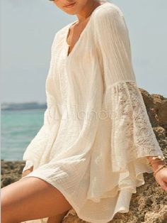 bohemian boho style hippy hippie chic bohème vibe gypsy fashion indie folk look outfit Look Hippie Chic, Look Boho, Gypsy Style, Bohemian Style, White Bohemian, Hippie Boho, Hippie Style, Cute Dresses, Casual Dresses