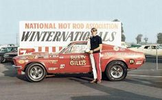 Super Stock 1968-1/2 Mustang Cobra Jet Drag Race NHRA Winternationals