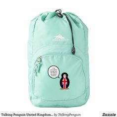 Talking Penguin United Kingdom Flag High Sierra Backpack