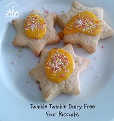 These Twinkle Twinkle Little Star Dairy Free Cookies are an excellent baking project to do with your dairy intolerant child.