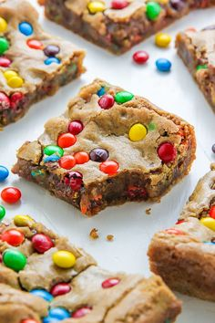 Chewy Brown Butter M&M Blondies | Baker By Nature | Bloglovin'